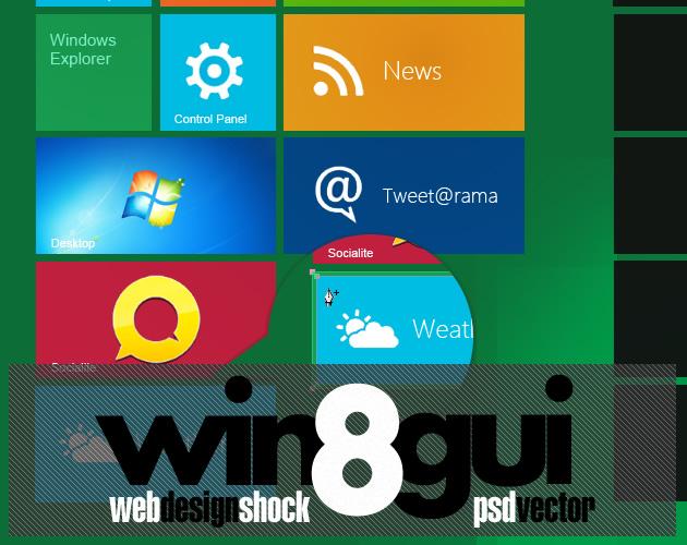 Trident Design – Windows 8 Metro GUI Pack