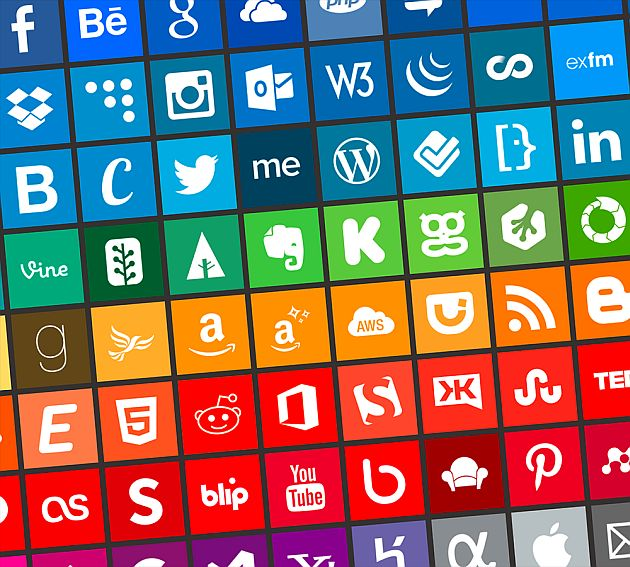 Simple icons a social media and web services icon pack