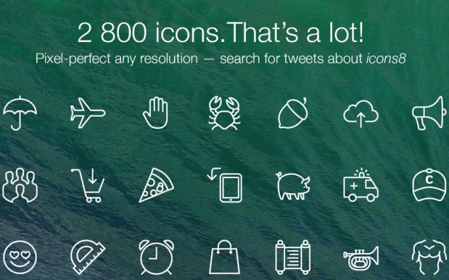 Trident Design – 2800 icons in a Mac app